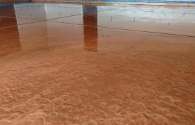 Epoxy Metallic Flooring Coatings Installed
