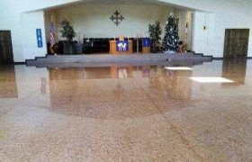 Church Concrete Floor Polishing