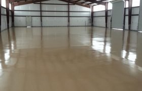 Troweled Concrete Flooring Warehouse