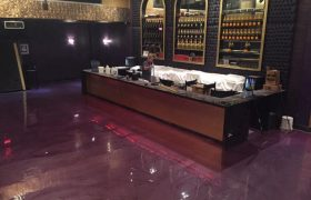 Troweled Epoxy Flooring Restaurant